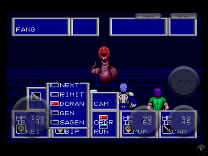 Phantasy Star II Fang and Doran