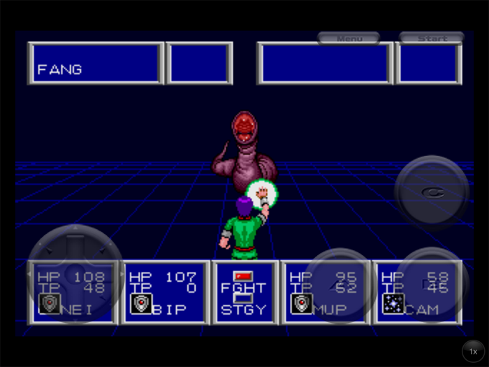 Phantasy Star II Fang Fight