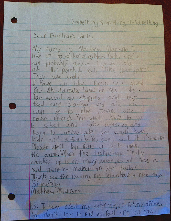 Matt Marrone EA Letter