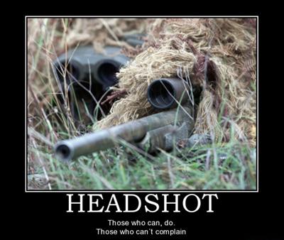 Headshot Motivational Poster
