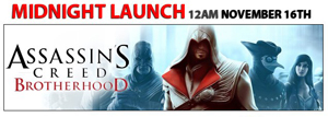 Assassin's Creed Brotherhood Midnight Launch