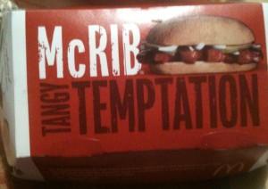 The McRib Box - Tangy Temptation
