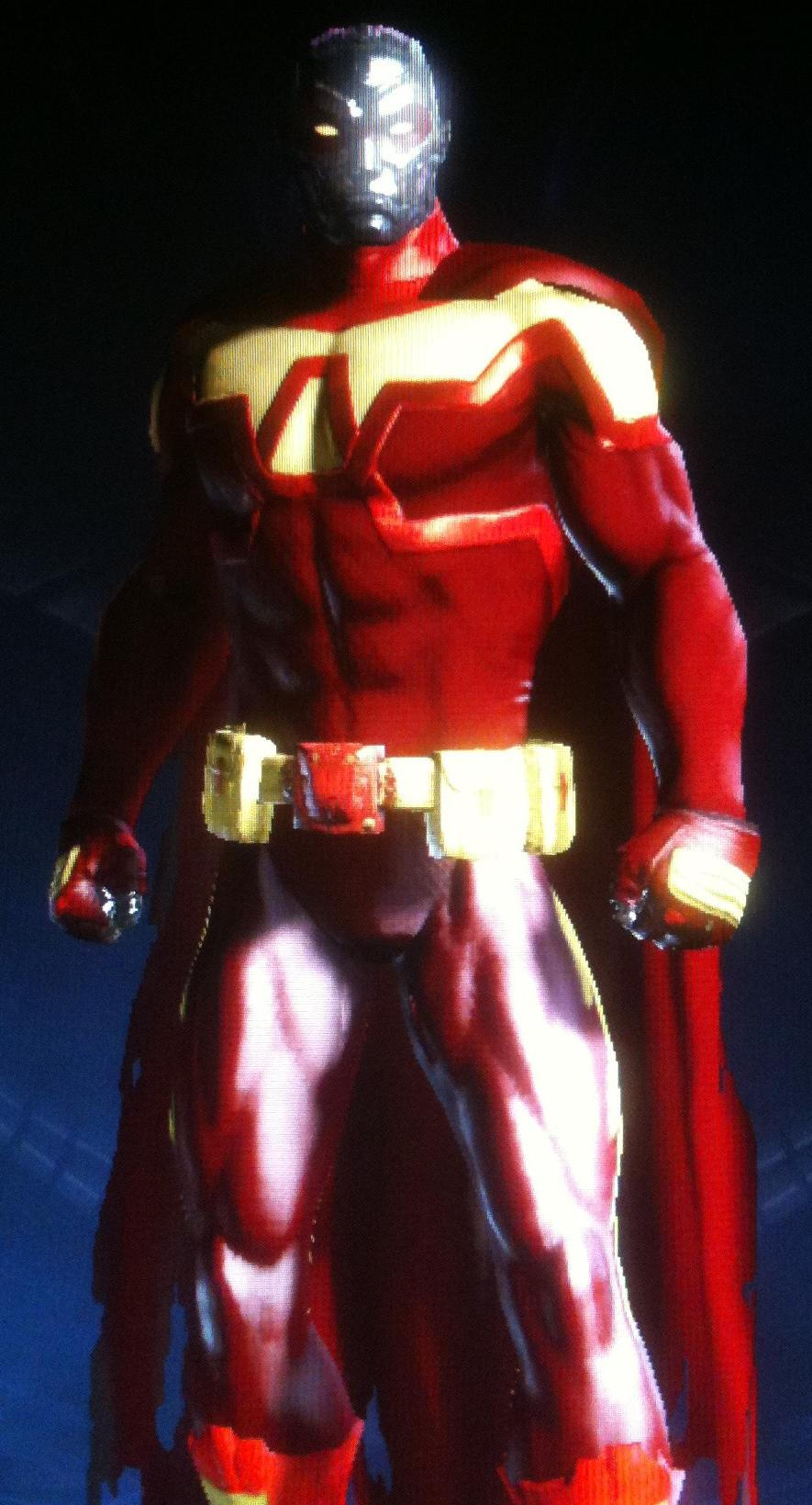DCUO Scarlet Steel With Tattered Cape