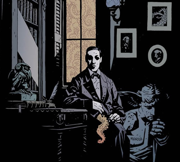 Mike Mignola HP Lovecraft Portrait