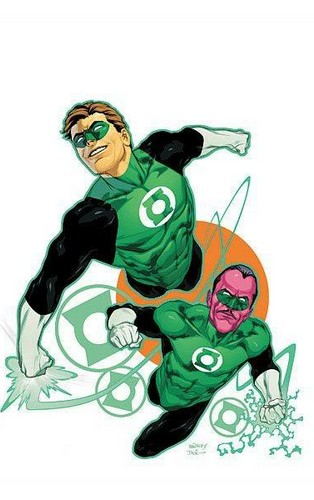 Green Lantern Hal Jordan and Sinestro