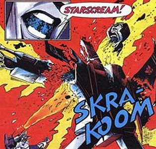 Starscream Explodes