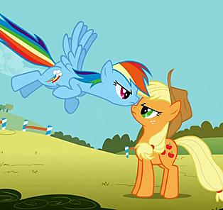 My Little Pony - Rainbow Dash and Applejack