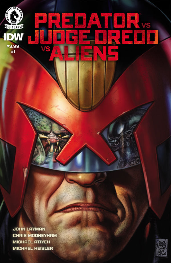 Predator Judge Dredd Aliens Cover