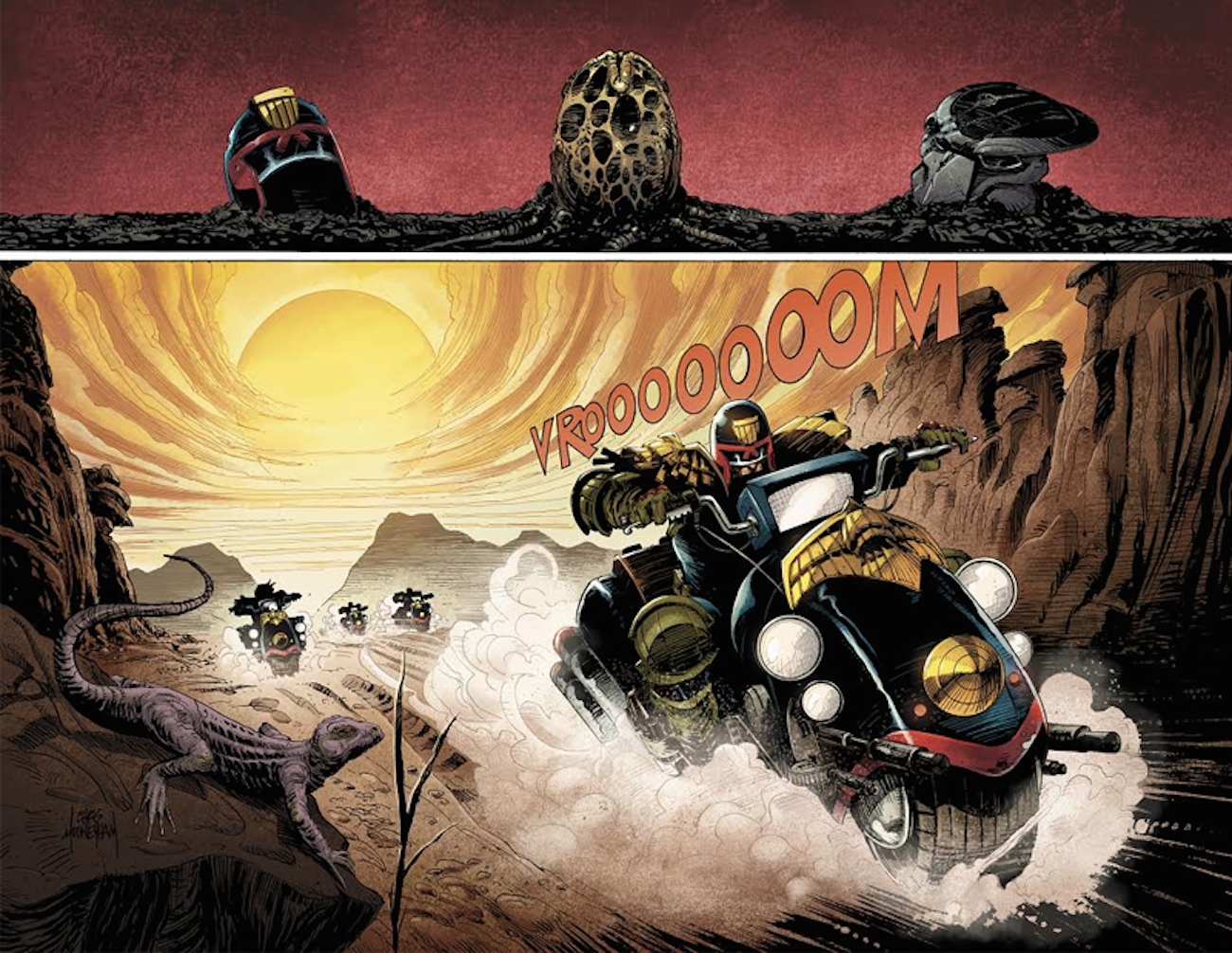 Predator Judge Dredd Aliens # 1