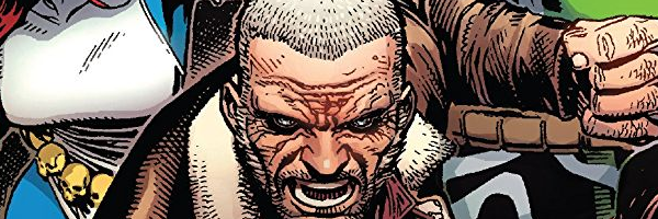 A man with a close cut haircut and scarred face snarls at the camera. This is a selective portion of the Astonishing X-Men #1 cover.